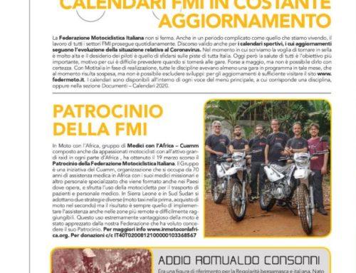 """Rivista Motoitalia Federmoto – """"Patrocinio della FMI a In Moto con l'Africa"""""""