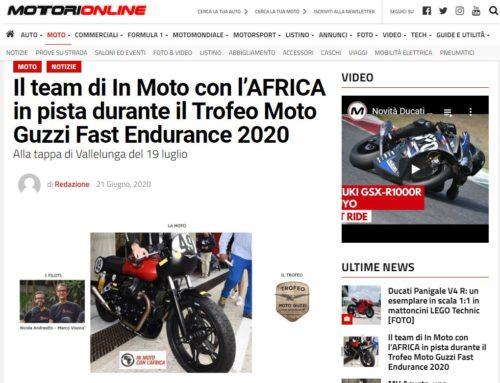 Motorionline.com – In PISTA con l'Africa al Trofeo Moto Guzzi Fast Endurance
