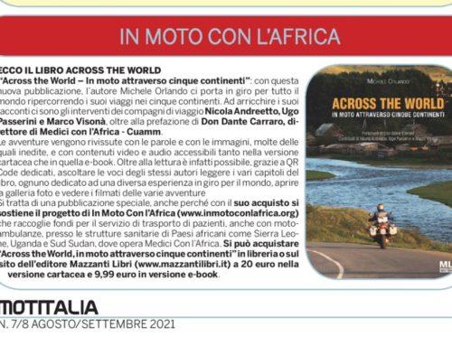 MotItalia – Ecco il libro Across the World pro In Moto con l'Africa